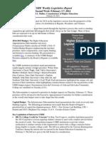 Weekly Legislative Update - Commissioner David L. Buhler (Week 2)