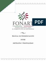Manual de Diferenciacion Entre Artesania y Manualidad