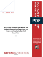Evaluating Living Wage Laws in the United States- Good Intentions