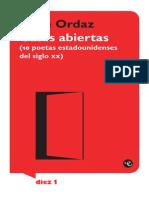 946 Casas Abiertas Diez Poetas Estadounidenses Del Siglo Xx