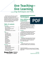 Active Learning and Teaching