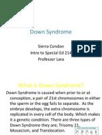 Down Syndrome-Sierra C. Fact Sheet