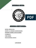 Jerarquia Constitucional en Bolivia