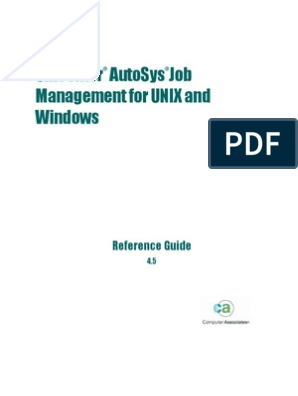 Autosys Job Management - Reference Guide | Command Line