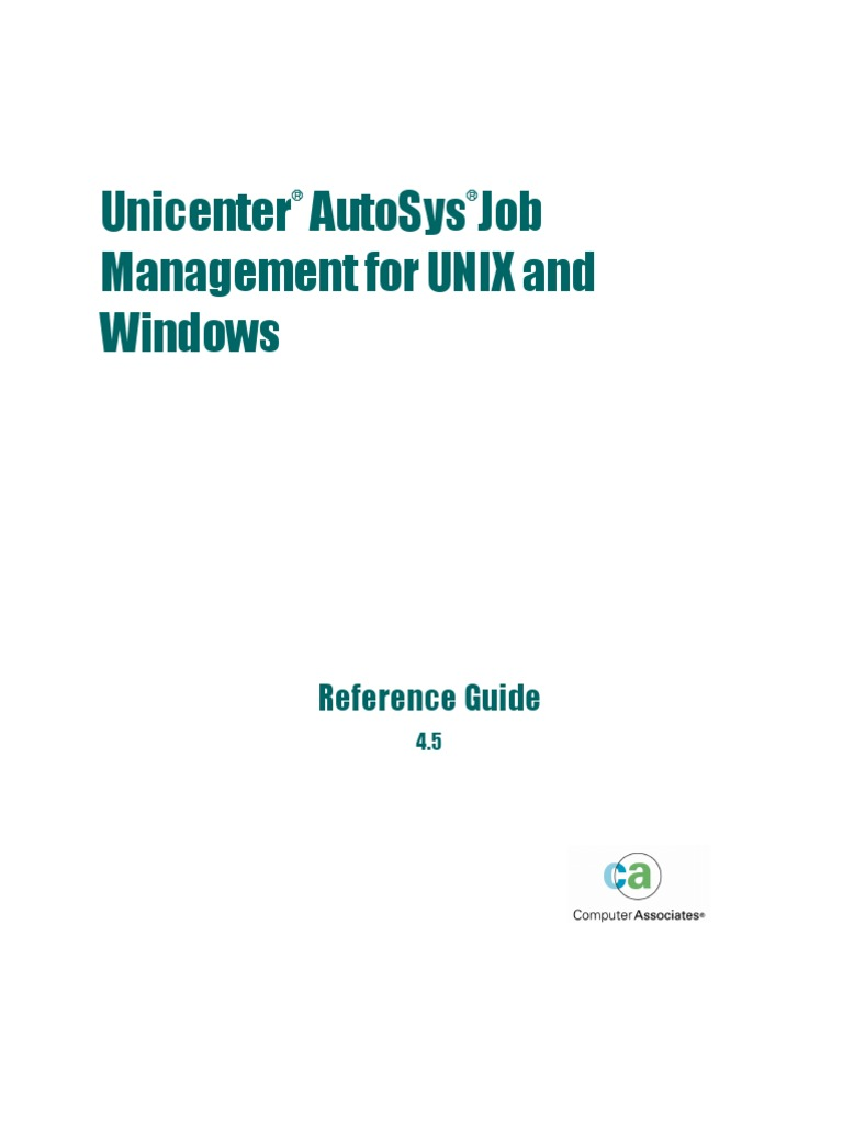 Autosys Job Management - Reference Guide   Command Line Interface   Port  (Computer Networking)