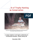 The Myth of Trophy Hunting as Conservation
