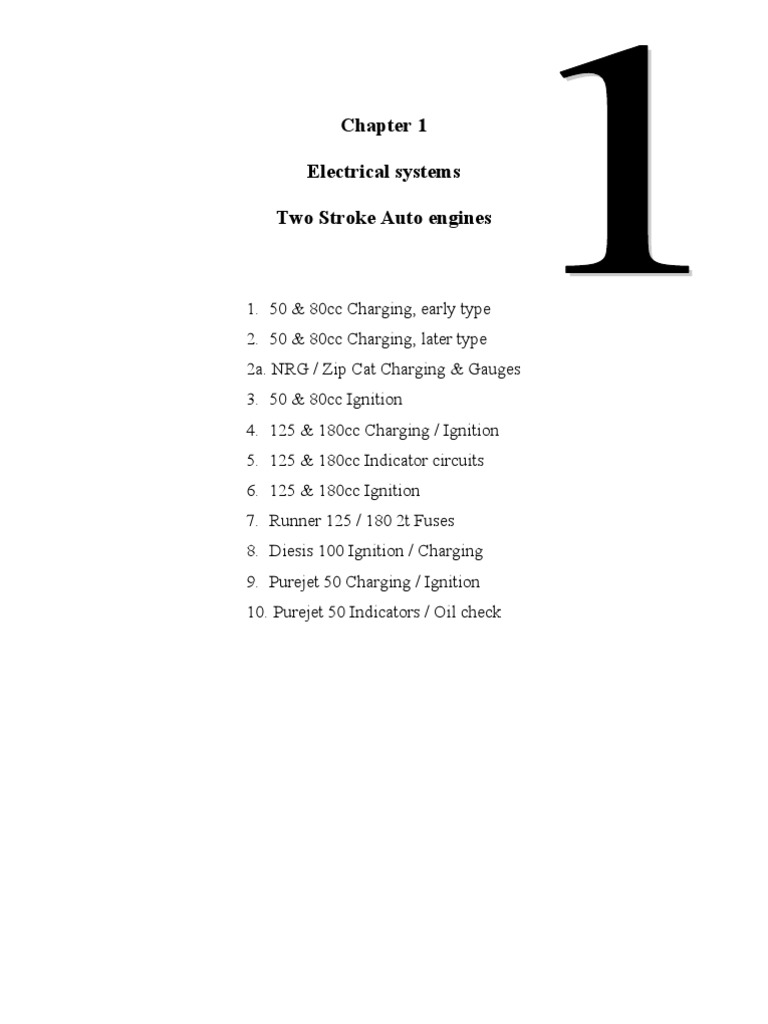 Piaggio Tech Manuals | Rectifier | Direct Current