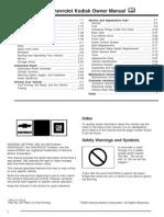 2009 Chevrolet Kodiak Manual en CA