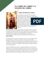 ASÍ NACIÓ LA ORDEN DEL CARMEN Y LA ADVOCACIÓN DEL CARMEN