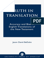 [Jason David BeDuhn] Truth in Transl
