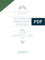Administracion de Operaciones en Ingenieria Agroindustrial de La Universidad Rural de Guatemala