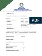 Programa Fundamentos de Quimica Organica I-2013