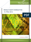 Weekly Equity News Letter updates By the Equicom 10-Feb