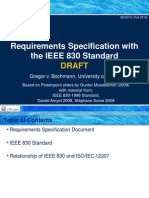 Requirements Documentation Standards - IEEE830