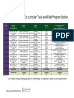track and field program outline