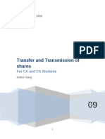17 Transfer and Transmission of Shares