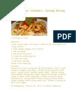 Fried Butter Calamari. Sotong Goreng Mentega.