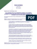 ra 7641 & 7549 provisions