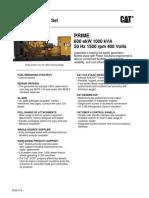 1000 kVA 400V C32 Low Emissions Prime