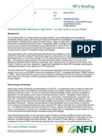 Solar Briefing NFU