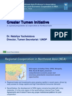 Models of Northeast Asian Economic Cooperation_GTI Projects and Institutions, DPRK Withdrawal