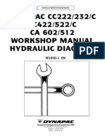 Dynapac CC222 232 422 522 602 512 Whopshop Manual Hydraulic Diagram