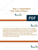 Effective Rate vs. Stated Rated - Time Value of Money