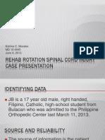 Rehab Rotation SCI Case Presentation