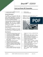 CC2550 Data Sheet 1 0