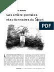 Les Arriere-pensees Reactionnaires Du Sport