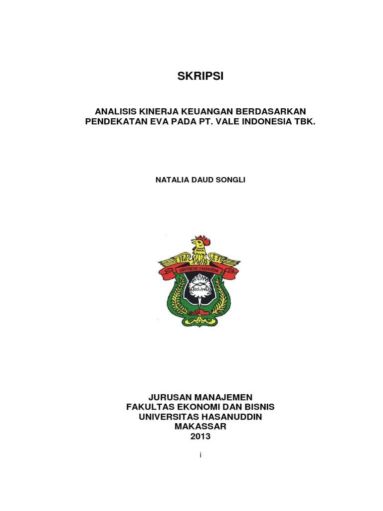 Analisis Kinerja Keuangan Berdasarkan Pendekatan Eva Pada Pt Vale Indonesia Tbk