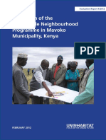Evaluation of the of the Sustainable Neighbourhood Programme in Mavoko Municipality, Kenya