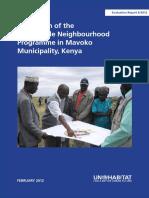 Evaluation of the of the Sustainable Neighbourhood Programme in Mavoko Municipality, Kenya