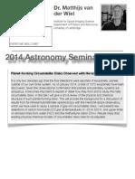 Astro Seminar - Matthijs