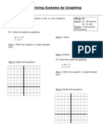 3.1 Graphing System of Equations