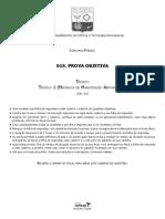 Vunesp 2013 Cta Tecnico Em Mecanica de Manutencao Aeronautica Prova