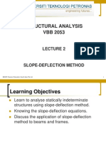 Lecture 2 SLOPE DEFLECTION