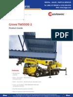 Grove TM500E 2 Product Guide