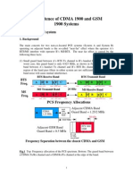 CDMA GSM Co-Existence Guidelines