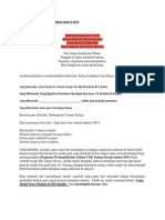 Teks Ucapan Majlis Permuafakatan Tahun 6 2014