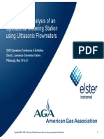 Lawrence.Performance Analysis of an Operational Metering Station Using Ultrasonic Flowmeters