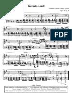 Sheetmusic Chopin Prelude Op28 No4