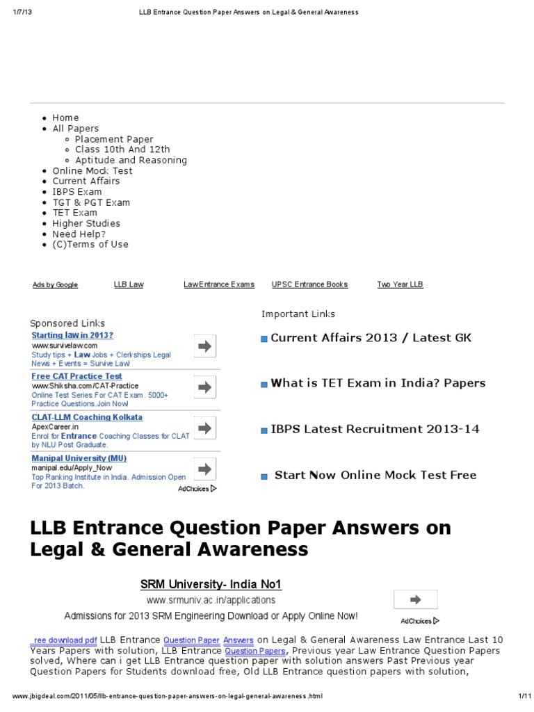 llb exam paper You are downloading llb 1st year exam routine 2017 llb exam will be start on 13-04-2018  wwwnuedubd official website published llb 1st part exam routine.
