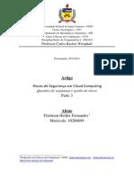 Terceiro Artigo-Seguranca Em Cloud Computing-Questoes de Seguranca e Gestao de Riscos
