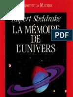 Rupert Sheldrake - La Mémoire de l'Univers