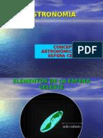 Conceptos Astronomicos de La Esfera Celeste