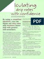 IV Drip Calculations