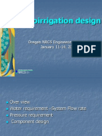Micro Irrigation Design Method