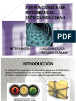 ANÁLISIS DE FUNCIONES HASH CRIPTOGRÁFICAS