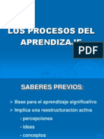 Los Procesos Del Aprendizaje en Power Point 2
